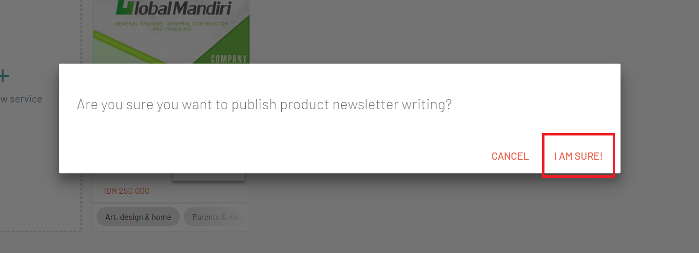 want to sure publish